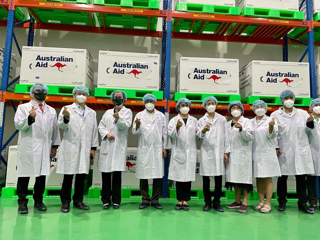 First Shipment Of Vaccine Doses From Australia Arrive In Vietnam