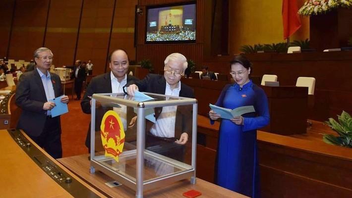 Quốc hội chính thức công bố kết quả lấy phiếu tín nhiệm