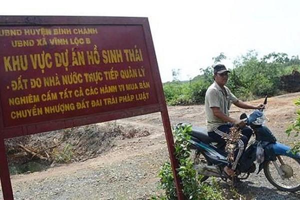 """Qua 3 chủ đầu tư, dự án sinh thái hồ Vĩnh Lộc vẫn """"bất động"""" suốt 16 năm"""