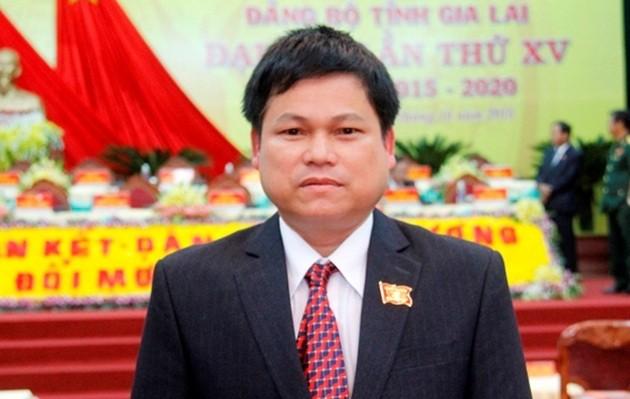 Trưởng Ban Tổ chức Tỉnh ủy Gia Lai bị kỷ luật