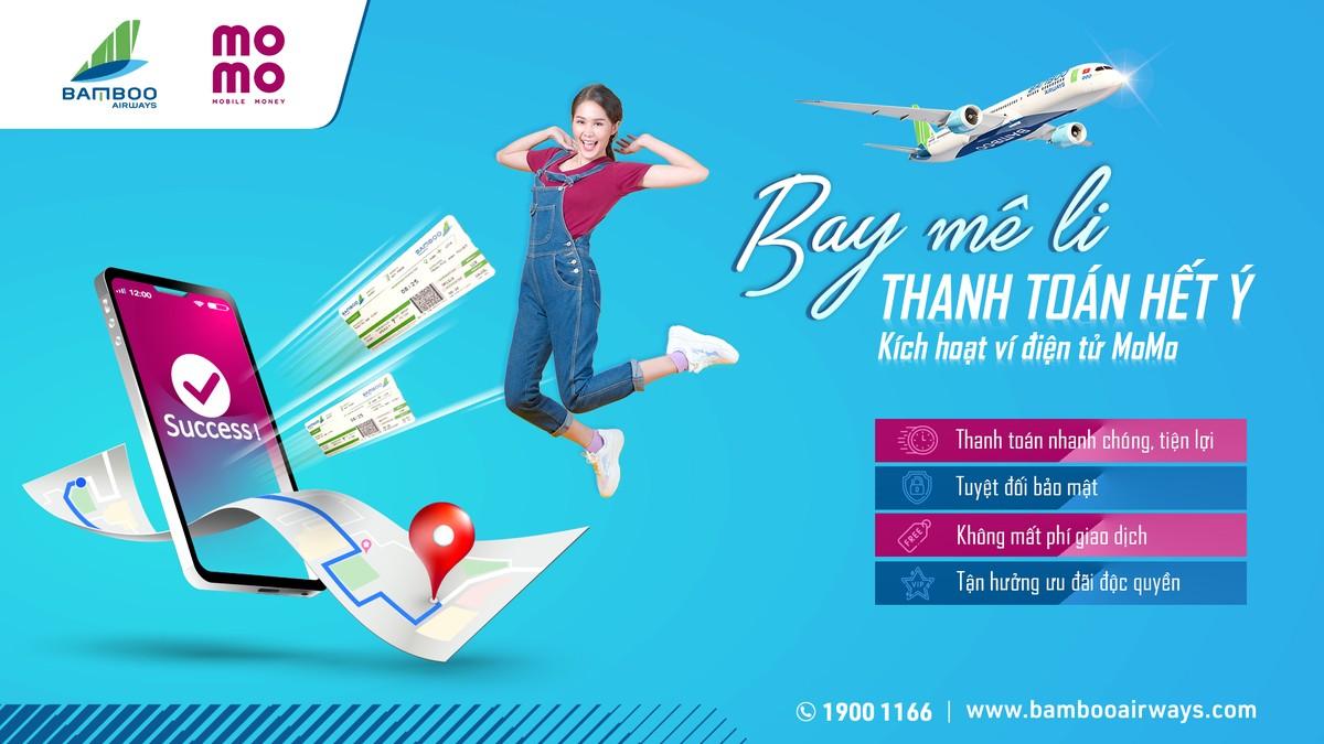"""Bamboo Airways """"bắt tay"""" MoMo cùng tối ưu hóa phương thức thanh toán vé bay cho hành khách"""