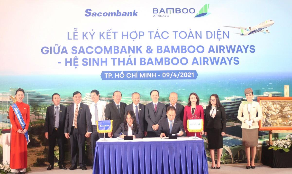 """Hợp tác toàn diện Sacombank và Bamboo Airways: """"Hai thương hiệu, triệu giá trị"""""""