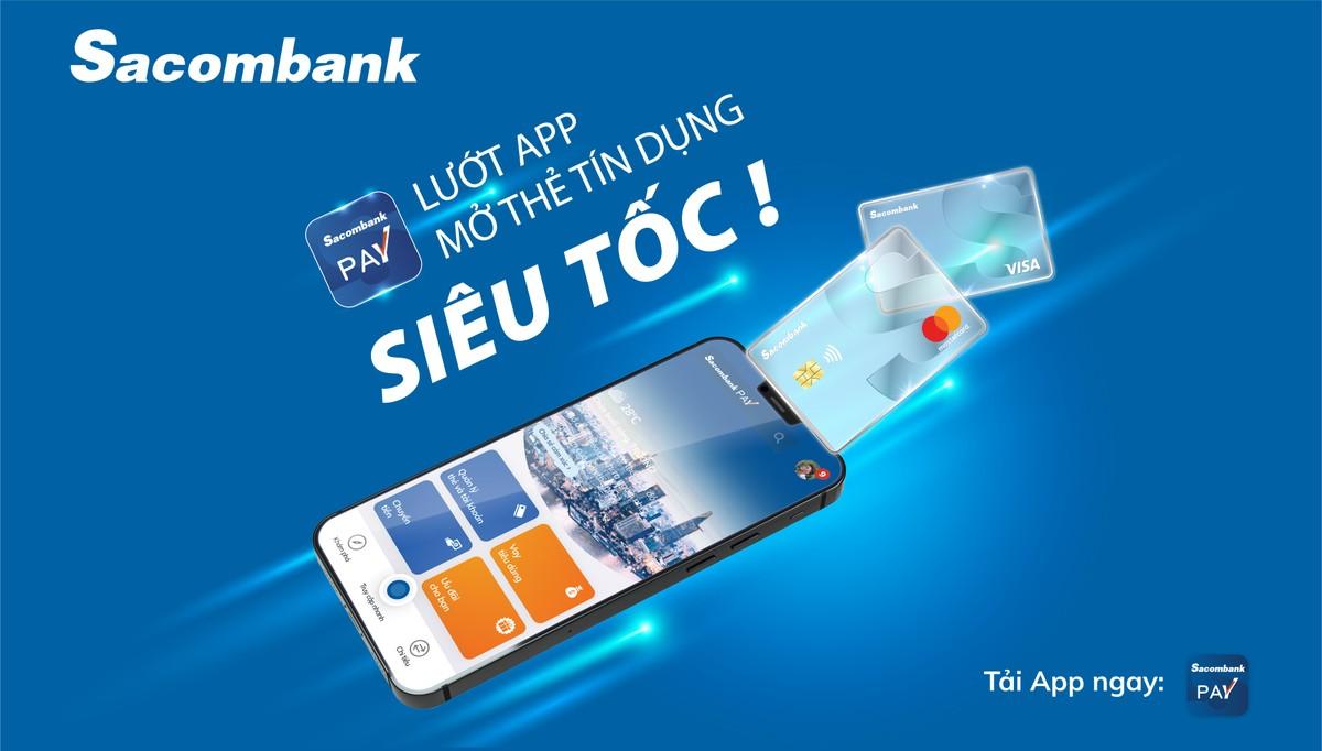 Mở thẻ tín dụng trực tuyến chỉ trong 5 phút với Sacombank Pay