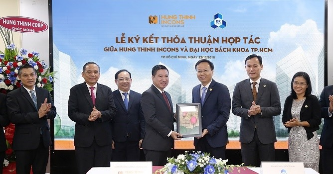 Hưng Thịnh Incons ký kết hợp tác cùng trường Đại học Bách khoa TP.HCM