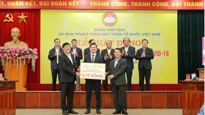 Tập đoàn Hưng Thịnh ủng hộ 5 tỷ đồng phòng chống dịch Covid-19