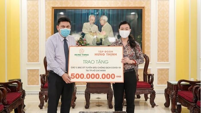 Tập đoàn Hưng Thịnh tiếp tục trích ngân sách 20 tỷ đồng ủng hộ hoạt động phòng, chống Covid-19