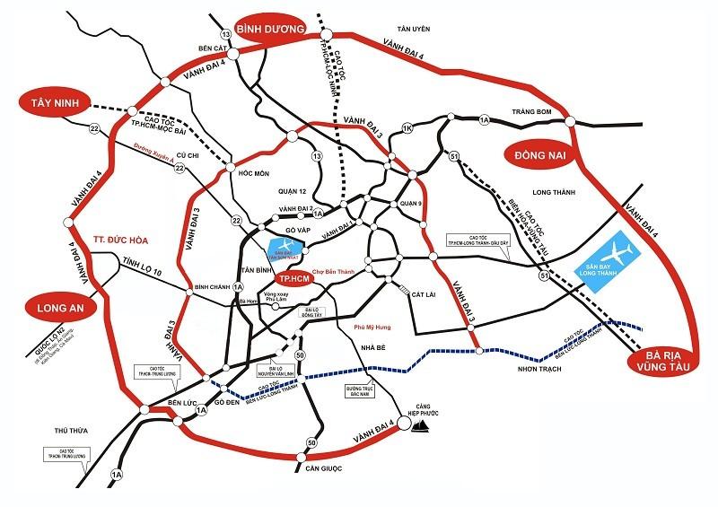 """TP.HCM kiến nghị """"khẩn"""" triển khai loạt dự án giao thông kết nối phía Nam"""