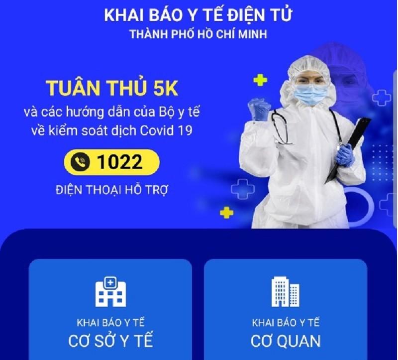 TP.HCM ứng dụng khai báo y tế điện tử toàn thành phố từ 24/6