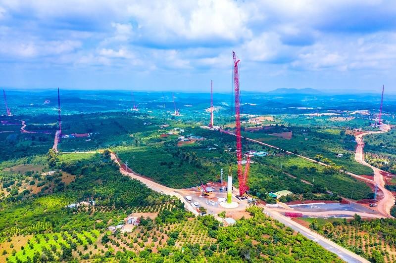 Cập nhật tiến độ dự án điện gió lớn nhất Việt Nam