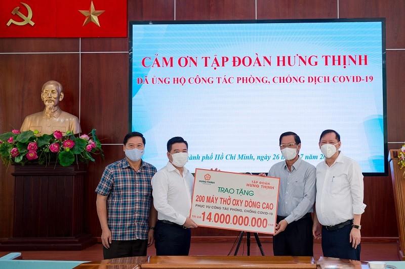 """Tập đoàn Hưng Thịnh hỗ trợ """"khẩn"""" hàng chục tỷ đồng cho TP.HCM phòng, chống dịch COVID-19"""