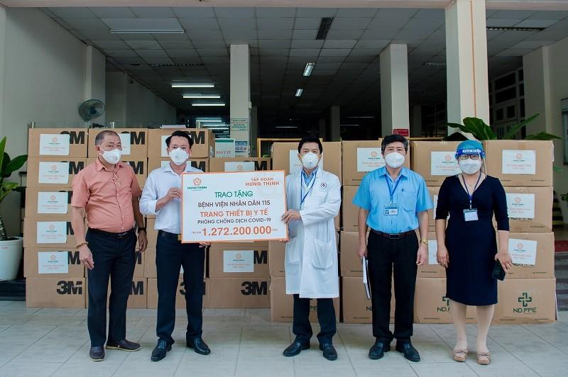Tập đoàn Hưng Thịnh hỗ trợ trang thiết bị y tế với giá trị gần 2 tỷ đồng cho Bệnh viện Nhân dân 115 và Gia Định