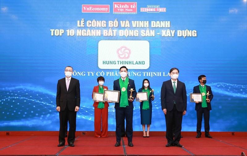Hưng Thịnh Land nhận giải thưởng Thương hiệu mạnh Việt Nam 2021
