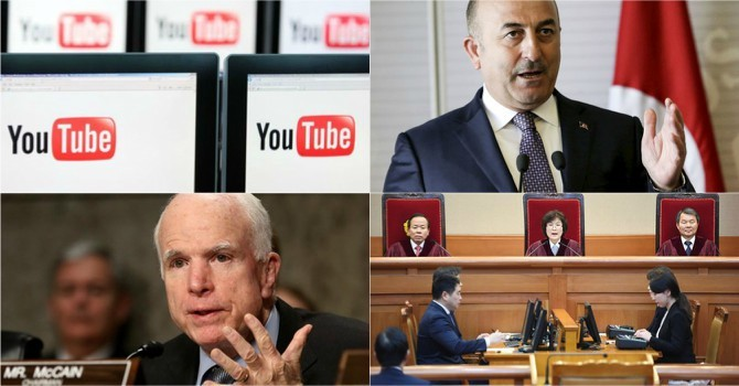 Thế giới 24h: Tổng thống Hàn Quốc rời Nhà Xanh, John McCain thách Trump