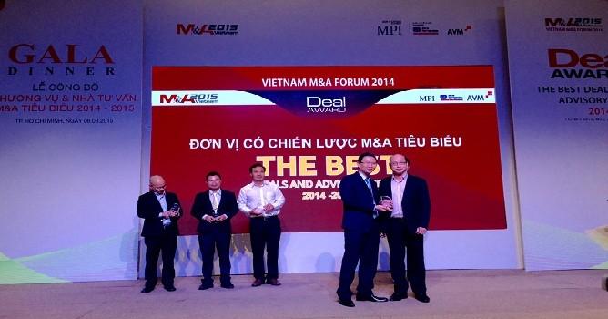 Tập đoàn FLC nhận giải chiến lược M&A tiêu biểu 2014 - 2015