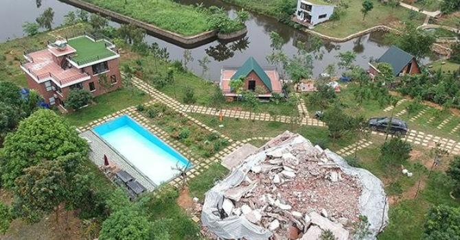 """Nhiều công trình được """"đặc cách"""" khi cưỡng chế vi phạm đất rừng Sóc Sơn?"""