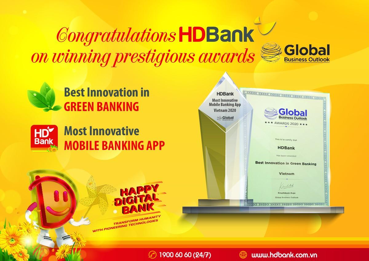Digital Bank, Green Bank HDBank Again Honored with International Awards