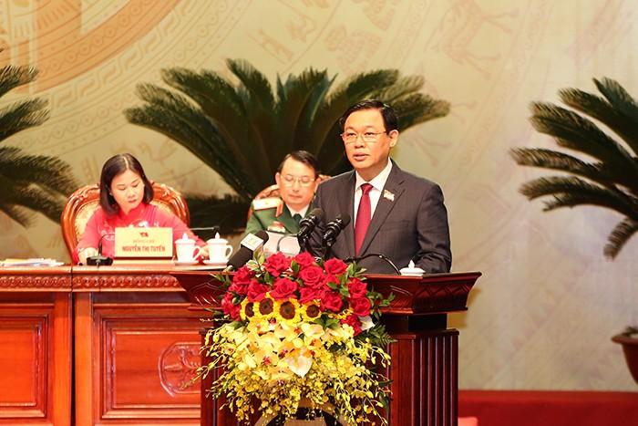Ông Vương Đình Huệ tái đắc cử Bí thư Thành ủy Hà Nội