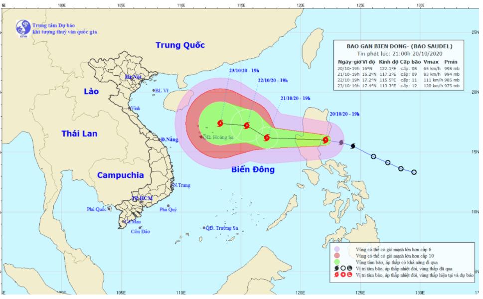 Bão số 8 sắp vào biển Đông, các tỉnh Thanh Hóa đến Quảng Nam khẩn trương ứng phó