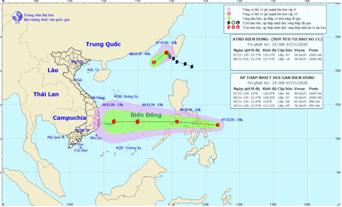 Bão số 11 suy yếu, biển Đông khả năng đón bão mới