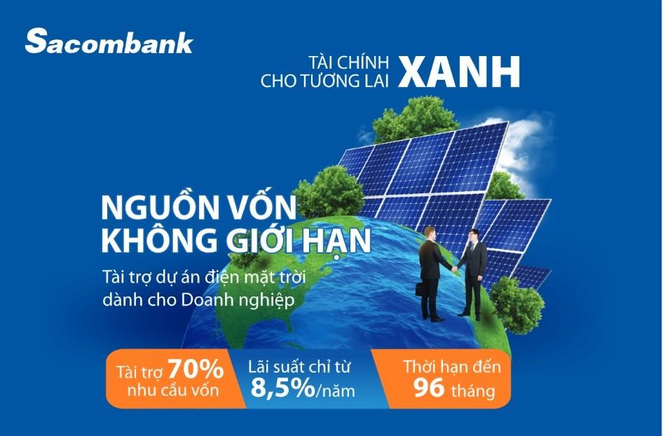 Ngân hàng đồng hành cùng các dự án điện mặt trời