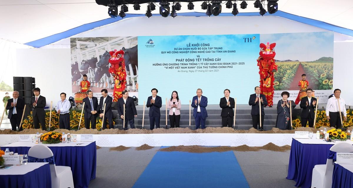 Tập đoàn TH khởi công dự án chăn nuôi bò sữa công nghệ cao quy mô lớn nhất ĐBSCL