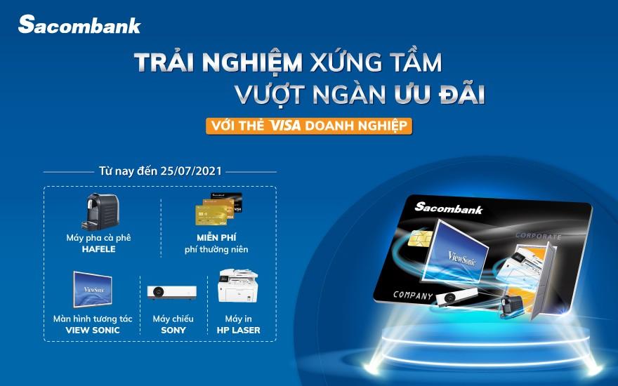 Nhiều ưu đãi và giải pháp mới dành cho thẻ doanh nghiệp tại Sacombank