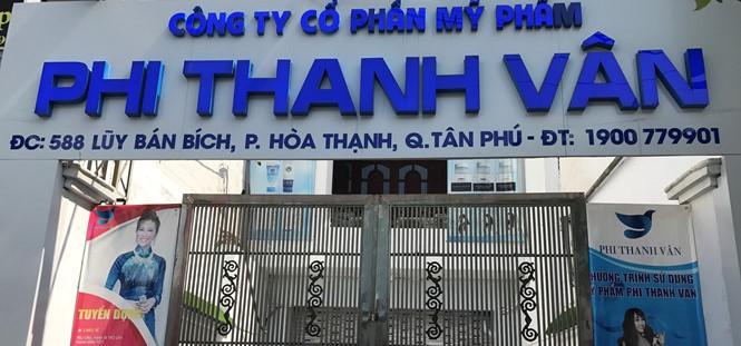 Công ty Phi Thanh Vân sản xuất mỹ phẩm trái quy định