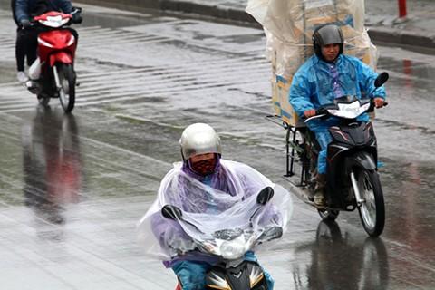 Bắc Bộ tiếp tục mưa rải rác