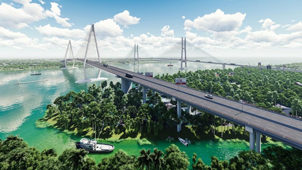 Dự án cầu Mỹ Thuận 2 đã cơ bản hoàn thành giải phóng mặt bằng