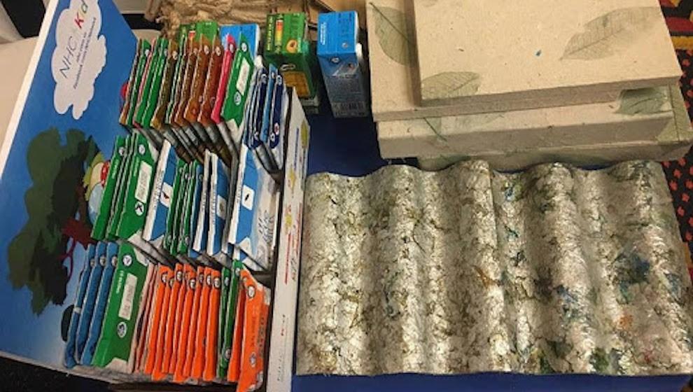 270 tấn vỏ hộp sữa học đường được tái chế qua một năm