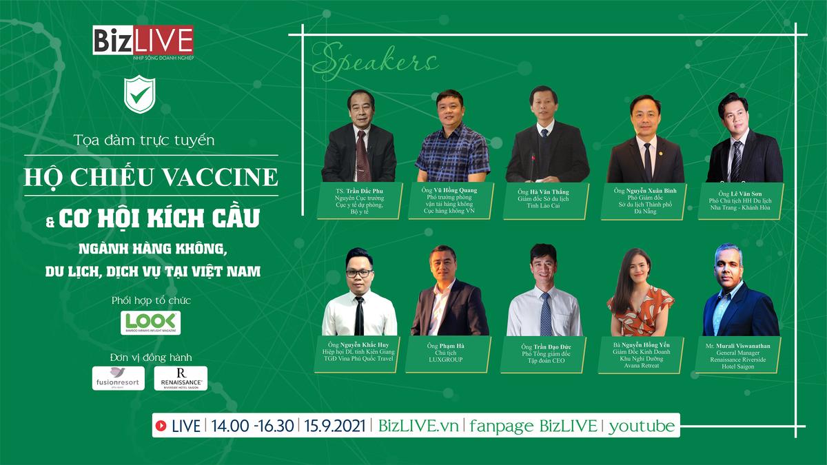 """Sắp diễn ra Tọa đàm trực tuyến """"Hộ chiếu Vaccine & Cơ hội kích cầu cho ngành Hàng không, Du lịch và Dịch vụ"""""""