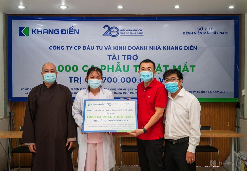 Khang Điền tài trợ chương trình phẫu thuật mắt cho 1.000 bệnh nhân vùng sâu vùng xa