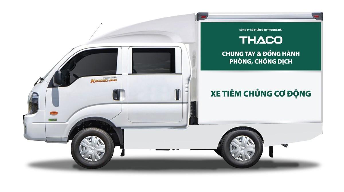 THACO trao tặng thành phố Hà Nội 300.000 kit test nhanh kháng nguyên SARS-COV-2 và 30 xe cứu thương