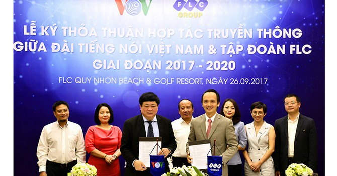Tập đoàn FLC và Đài Tiếng nói Việt Nam ký thỏa thuận hợp tác truyền thông