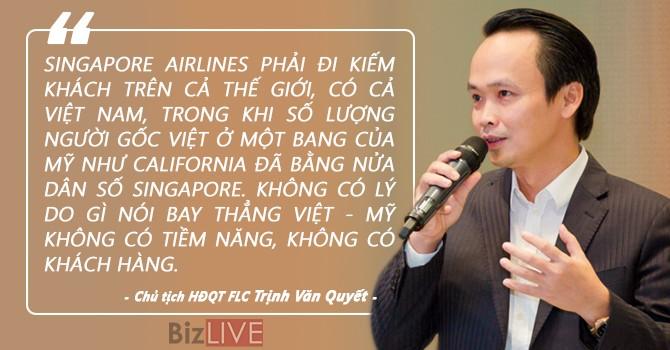 """""""Không có lý do gì nói bay thẳng Việt - Mỹ không có tiềm năng, không có khách hàng"""""""