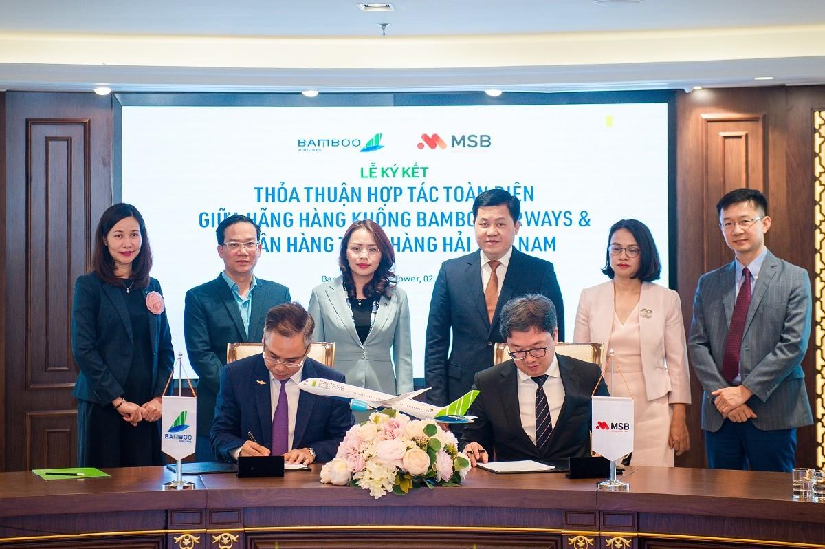 Bamboo Airways và Ngân hàng MSB ký thỏa thuận hợp tác phát triển toàn diện