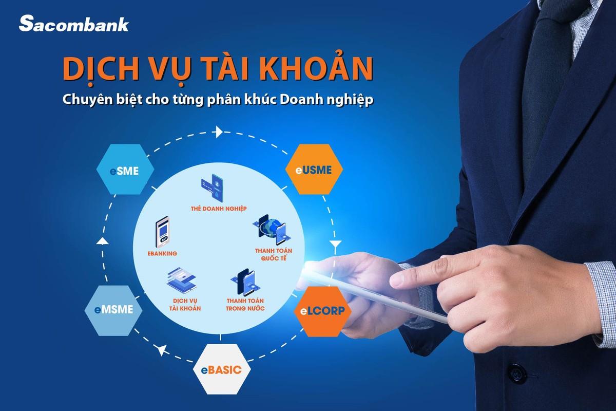 Dịch vụ tài khoản trọn gói theo quy mô hoạt động doanh nghiệp của Sacombank