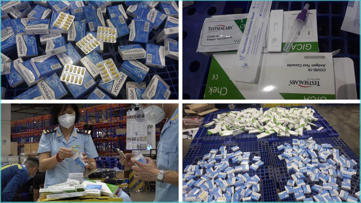 Thuốc điều trị COVID-19, bộ kit test nhanh từ Nga nhập khẩu trái phép qua sân bay Nội Bài