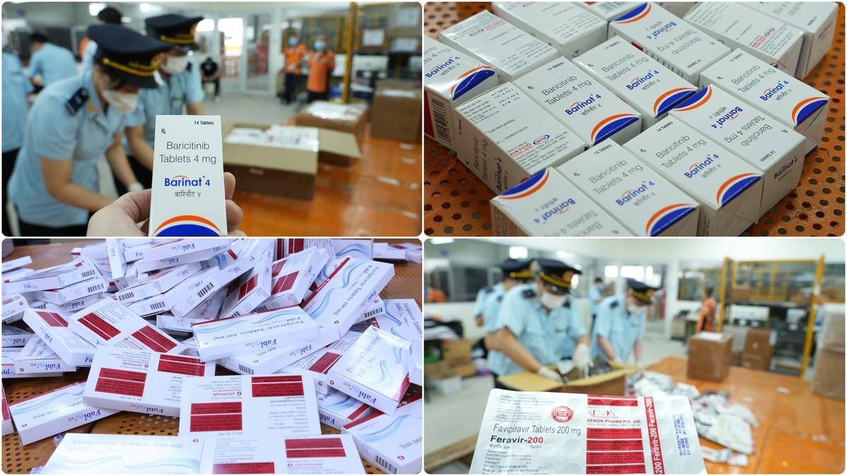 Bắt giữ hơn 60.000 viên thuốc điều trị COVID-19 dưới vỏ bọc quà biếu