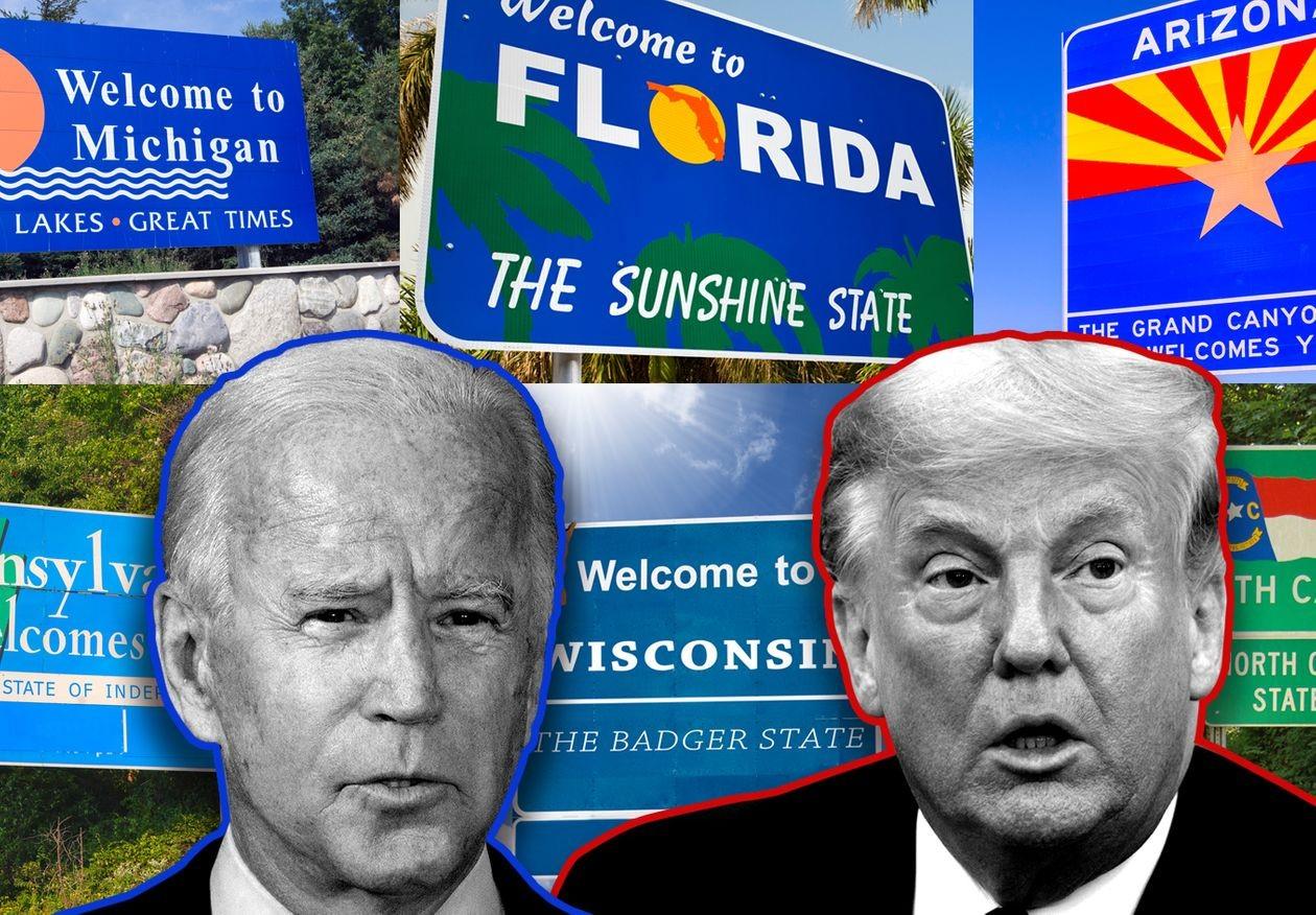 Cục diện bầu cử Mỹ hiện đang ra sao nhìn từ các bang có tính quyết định?