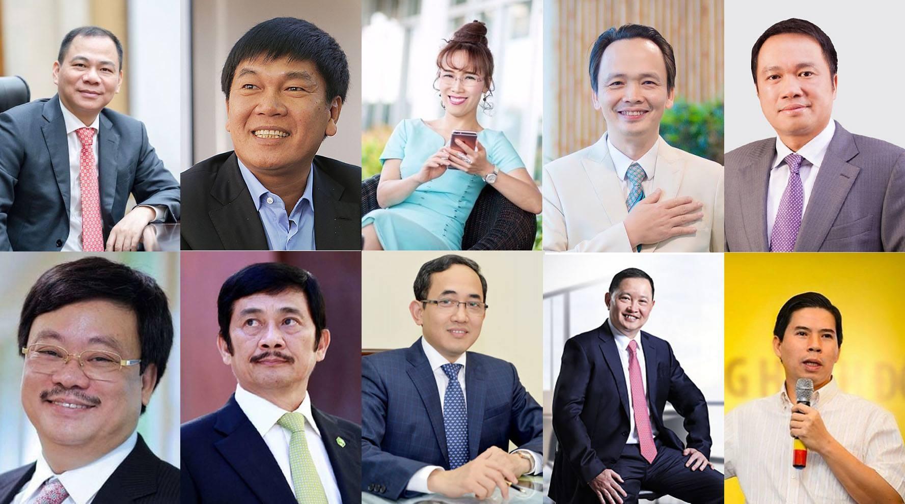 10 doanh nhân dẫn đầu thị trường chứng khoán Việt Nam 2020