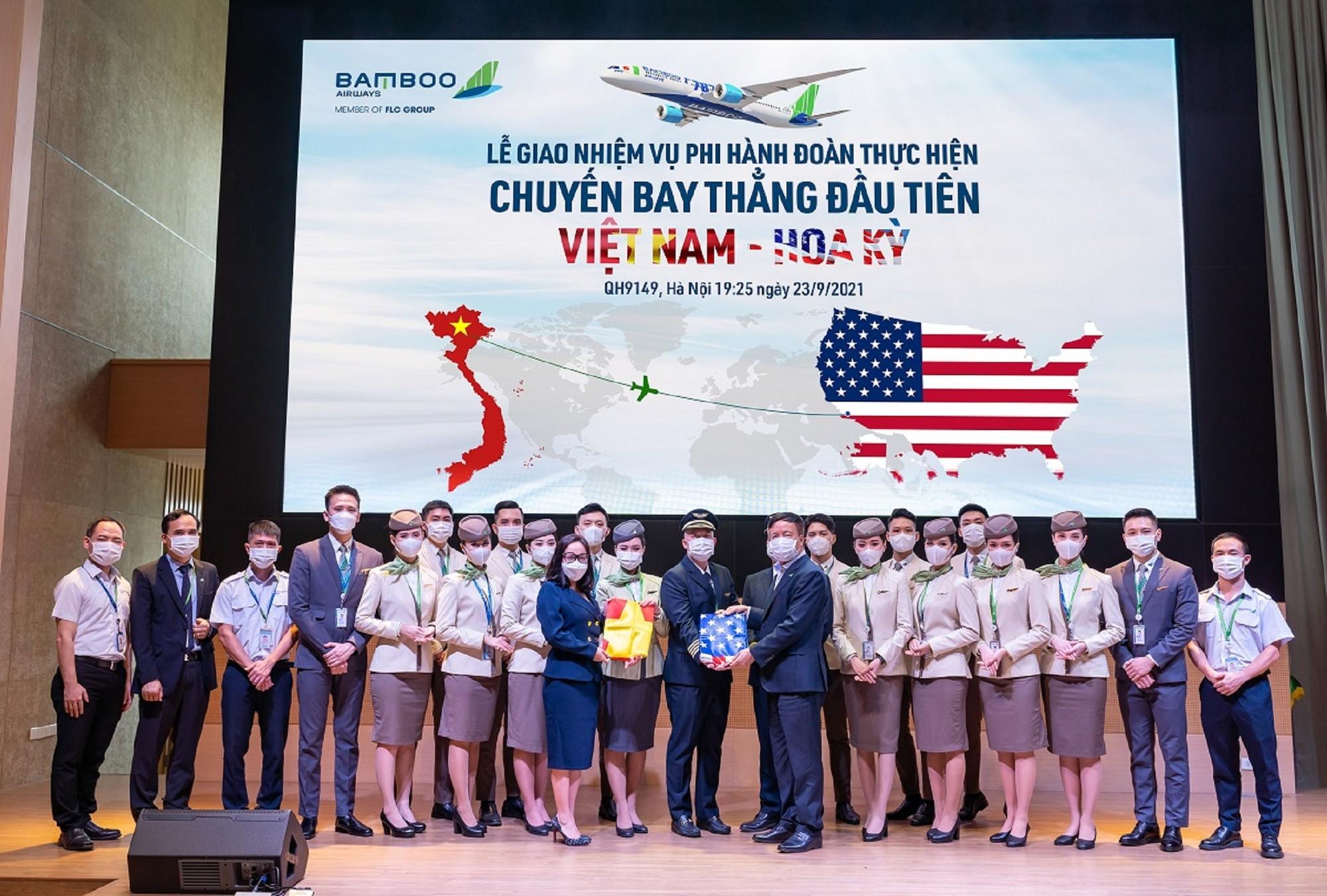 Theo chân chuyến bay thẳng lịch sử kết nối Việt – Mỹ của Bamboo Airways