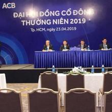 ĐHĐCĐ ACB: Chia cổ tức cho cổ đông tỷ lệ 30% năm 2018 và 2019