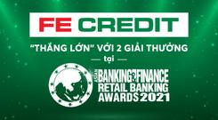 """FE CREDIT """"thắng lớn"""" với 2 giải thưởng từ tạp chí The Asian Banking & Finance"""