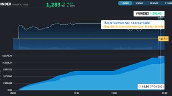 Chứng khoán 29/7: Tâm lý chỉ được cải thiện từ sau 14h, VN-Index đóng cửa ở mức cao nhất phiên