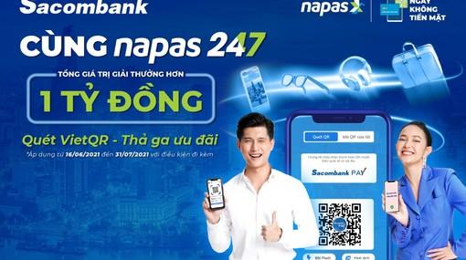Sacombank triển khai dịch vụ chuyển khoản liên ngân hàng 24/7 bằng mã VietQR
