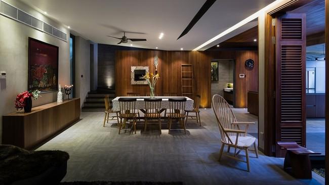Bộ bàn ghế ăn gỗ là nơi gặp gỡ, tạo sự gắn kết giữa các thành viên bên mâm cơm.