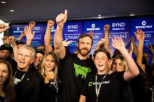 Buổi IPO của Beyond Meat. Ảnh: Bloomberg