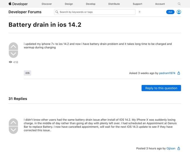 iOS 14.2 gay loi hao pin tren iPhone cu anh 2