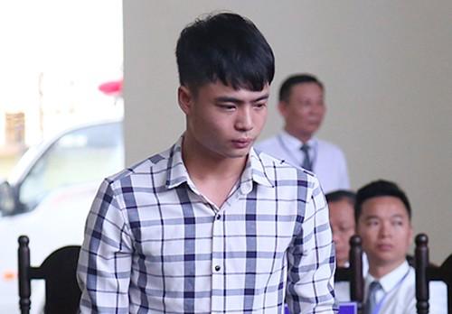 Lê Văn Huy tại phiên tòa sơ thẩm. Ảnh: Phạm Dự.